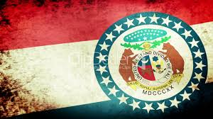 Misouri Flag Missouri State Flag Waving Grunge Look Royalty Free Video And