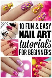 Fun  Easy Nail Art Tutorials For Beginners - At home nail art designs for beginners