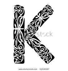 coloring pages tattoos polynesian tattoo initials boho capital letter stock vector