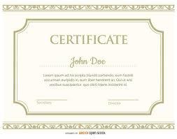 certificate template vector download