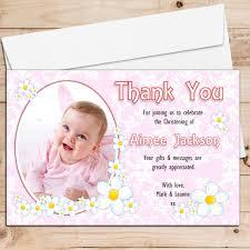 10 personalised girls daisy flower christening birthday thank you