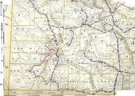Dolores Colorado Map by Colorado Railroad Map 1892