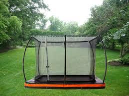 jumppower in ground 12 u0027 rectangular trampoline with safety
