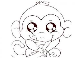 monkey coloring page free printable monkey coloring pages for kids