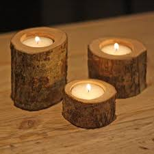 rustic tree branch tea light holders set of 3 the wedding of
