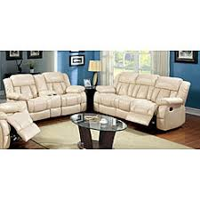 White Leather Recliner Sofa Classy Off White Leather Reclining Sofa On Small Home Decor