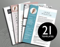 Cute Resume Templates Creative Resume Etsy