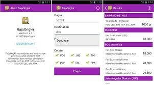 cek resi raja ongkir 4 aplikasi android cek ongkir ongkos kirim
