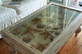 glass shadow box coffee table seashell shadow box tables inspire reef