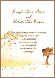Wedding Invitations Examples Wedding Invitation Examples 13 Free Printable Fall Wedding