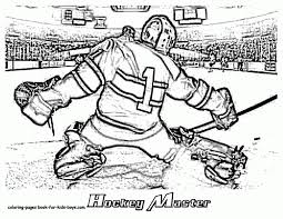 hockey goalie coloring pages coloring