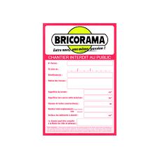 Moquette Bricorama by Panneau De Chantier Bricorama 120 X 80 Cm Marquage