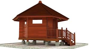 kona karma design prefab home plans teak bali prefab home plans the smallest structure in teak bali s cache of living spaces this hexagonal shaped chalet maximizes the minimalist space allowed in an