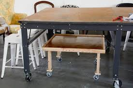 Build A Work Table Upholsterer U0027s Lock And Load Rolling Workbench Modhomeec