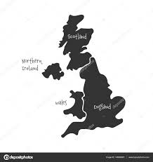 Simple Vector World Map by United Kingdom Aka Uk Of Great Britain And Northern Ireland Hand
