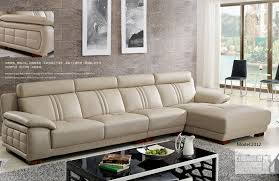 European Sectional Sofas Contemporary Style Tufted Leather Corner Sectional Sofa