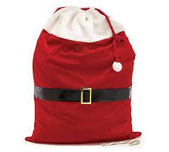 drawstring gift bags velveteen santa drawstring gift bag