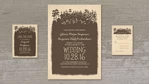 rustic invitations read more rustic woodland trees wedding invitations wedding