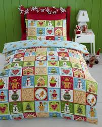 jolly gingerbread man duvet cover set double