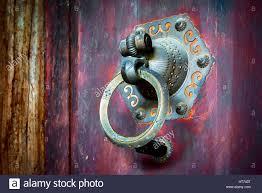 traditional chinese door knocker antique door knocker stock photo