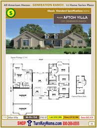 generation ranch home plan and price catalog all american homes