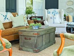 Rustic Chest Coffee Table How To Construct A Rustic Trunk Style Coffee Table Hgtv