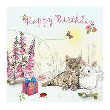 cat and rabbit greeting card happy birthday unique greeting cards