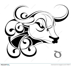 zodiac signs taurus tattoo design illustration 21789073 megapixl