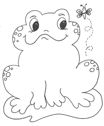 free printable frog coloring pages kids animal place