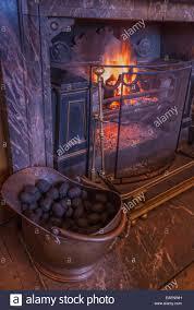 coal fireplace binhminh decoration