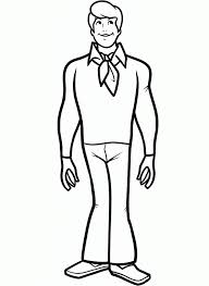 scooby doo fred jones coloring pages cartoon funny scooby doo