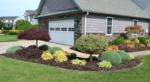 image of landscaping ideas front house driveway easy for jen joes