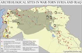 Palmyra Syria Map by Archeological Sites In War Torn Syria And Iraq