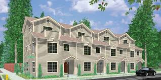 Family Home Plans 4 Plex House Plans Multiplexes Quadplex Plans