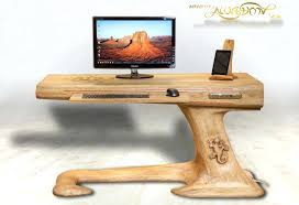 solid wood computer desk plans wooden desk with file cabinet wood