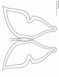 butterfly template coloring page coloring home