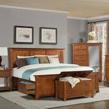 Platform Bed King With Storage Grant Park Wood Storage Platform Bed In Pecan Humble Abode