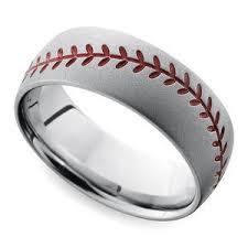 baseball wedding band stipple finish basketball pattern men s wedding ring in titanium