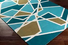 artistic weavers joan joan 6071 holloway teal aqua olive green rug