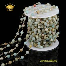diy rosary 5meter 6mm matte amazonite chains diy bracelet frosted