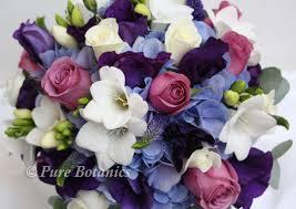 Blue Wedding Bouquets Purple Wedding Flowers Pure Botanics