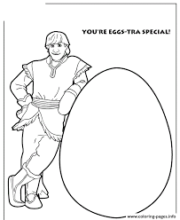 youre eggs tra special frozen easter theme colouring coloring