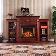 Mahogany Bookcase Harper Blvd Dublin 70 Inch Mahogany Bookcase Electric Fireplace