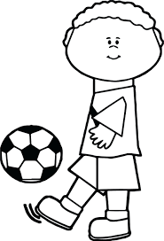 Kids Kick Soccer Ball Playing Football Coloring Page 69 Remarkable Football Coloring Page