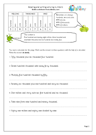 free worksheets reading writing and ordering numbers worksheets