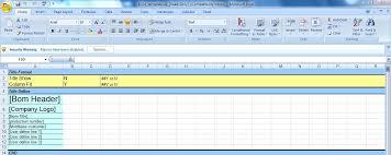 Bom Template Excel Bom Template In Moldwizard Siemens Plm Community 324919