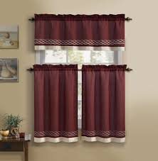 3 Piece Curtain Rod One Piece Curtain And Valance Decorate The House With Beautiful