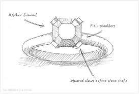 diamond ring design creating the asscher cut engagement ring