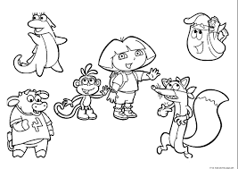 dora and diego coloring pages printable for printables colouring