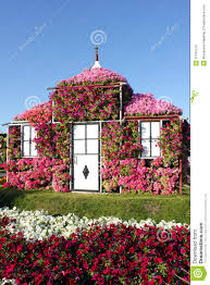 dream house covered with flowers royalty free stock photo image